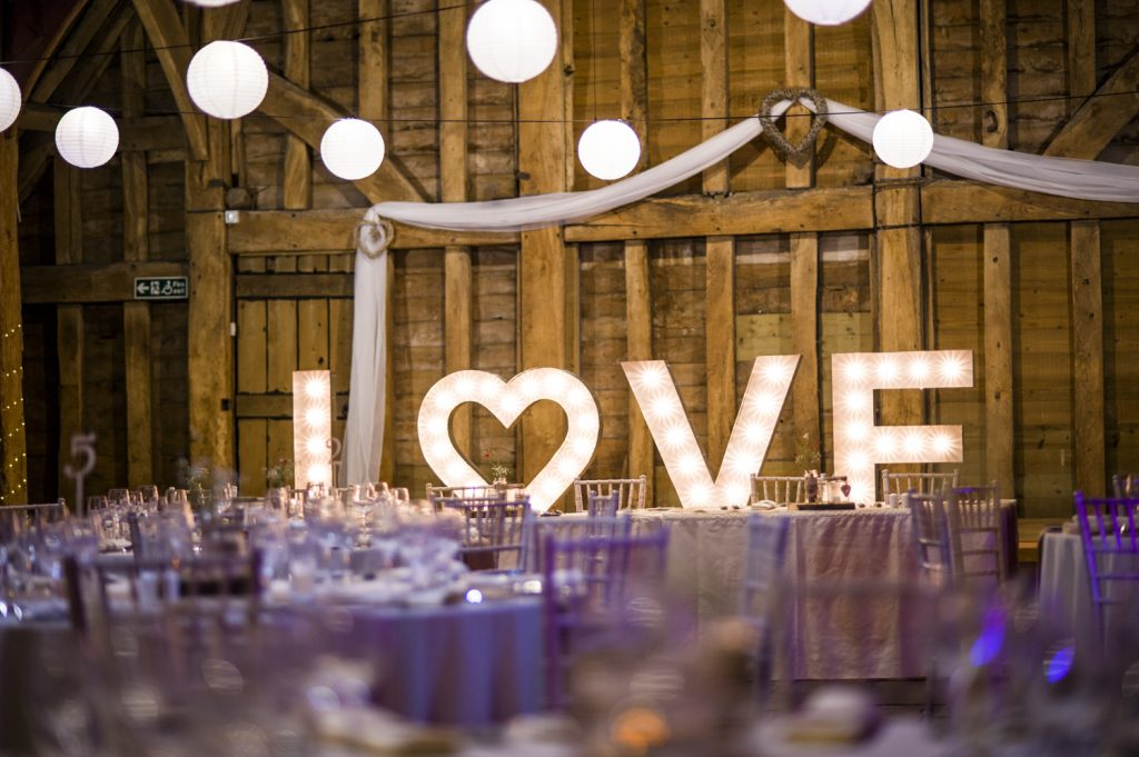 The Priory Wedding Reception