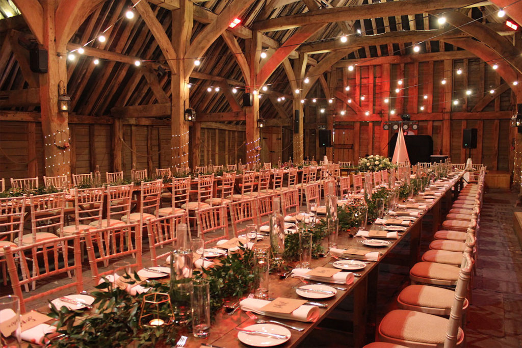 Long Rustic Tables at The Priory